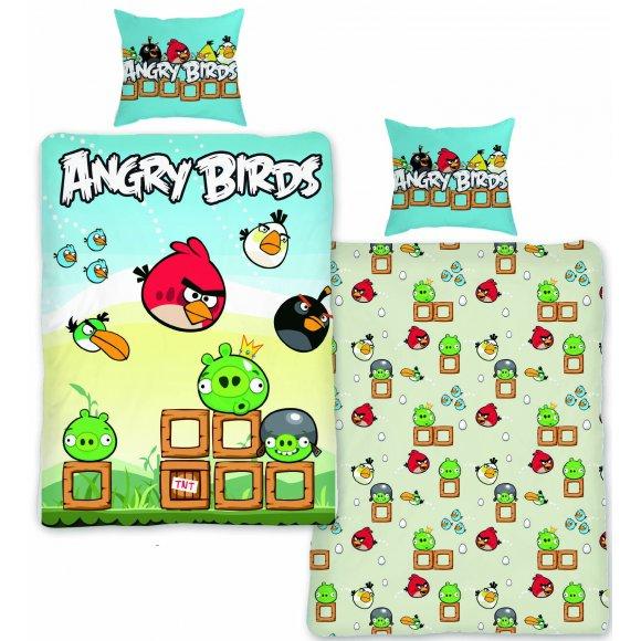 TTP Bavlněné povlečení Angry Birds AB004 BL