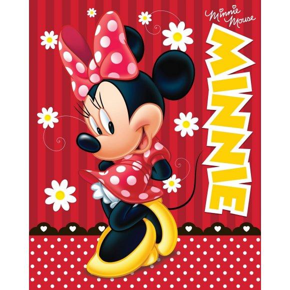 TTP Fleecová deka Minnie red