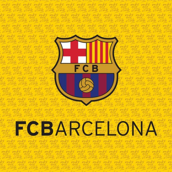 TTP Polštářek FC Barcelona žlutý 40x40